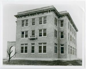 Primary view of object titled '[Photograph of Side View of McMurry Dormitory]'.