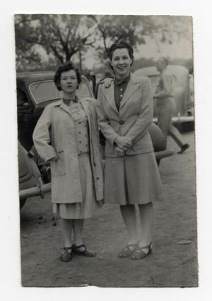Primary view of object titled '[Photograph of Iris Graham and Unknown Woman]'.