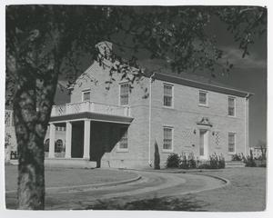 Primary view of object titled '[Photograph of McMurry President's House, Side View]'.