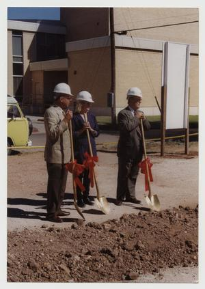 Primary view of object titled '[Photograph of Chapin Art Building Groundbreaking]'.