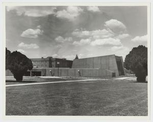 Primary view of object titled '[Photograph of Campus Center]'.
