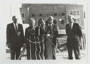 Primary view of object titled '[Photograph of Dr. Thomas Kim at a Ribbon Cutting Ceremony]'.
