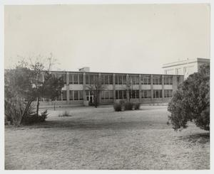 Primary view of object titled '[Photograph of Harold Groves Cooke Liberal Arts Building]'.