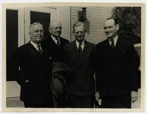 Primary view of object titled '[Photograph of Ivan Lee Holt, J. O. Haymes, Cal C. Wright, and W. B. McDaniel]'.