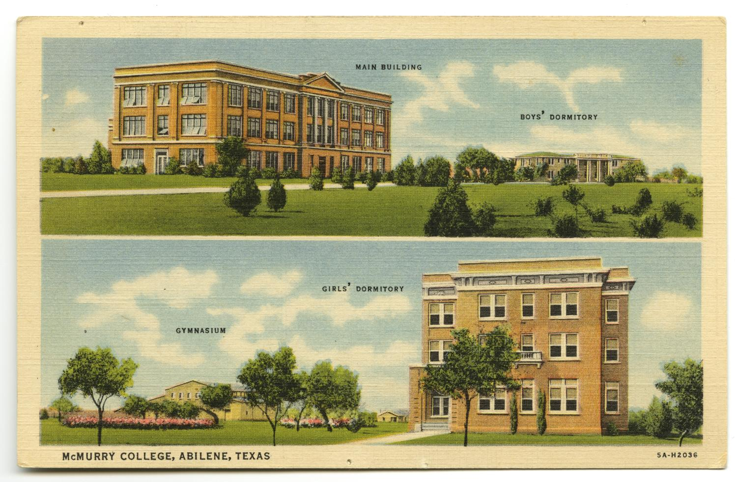 [Postcard of McMurry College]                                                                                                      [Sequence #]: 1 of 2