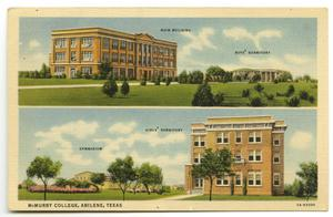 Primary view of object titled '[Postcard of McMurry College]'.