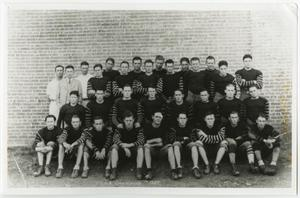 Primary view of object titled '[Members of the 1927 McMurry Football Team]'.