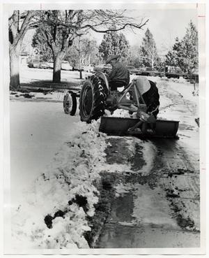 Primary view of object titled '[Photograph of Tractor Clearing Snow]'.