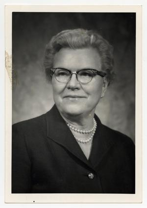 Primary view of object titled '[Photograph of Dr. Mavis Terry Willson]'.