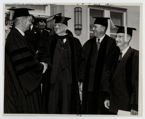 Primary view of object titled '[Photograph of President Cooke and McMurry Board of Trustees]'.