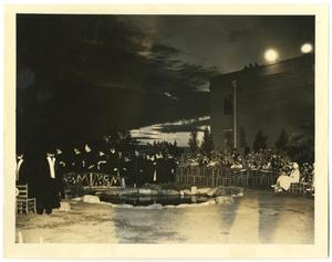 Primary view of object titled '[Photograph of McMurry College Graduation, 1935]'.