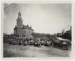 Primary view of object titled '[Photograph of the Waco Square]'.