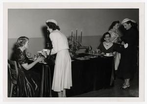 Primary view of object titled '[Photograph of Dames Club Reception]'.