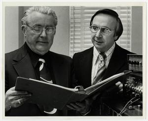 Primary view of object titled '[Photograph of Macon Sumerlin and David Blackburn]'.