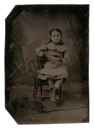 Primary view of object titled '[Tintype Portrait of Lilian May Riess]'.