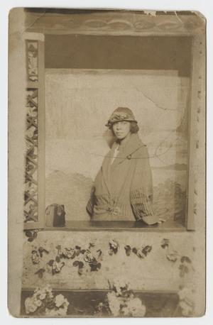 Primary view of object titled '[Postcard of a Woman]'.