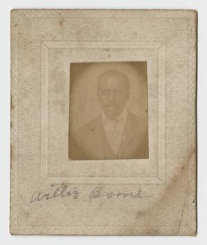 Primary view of object titled '[Portrait of Willie Boone]'.