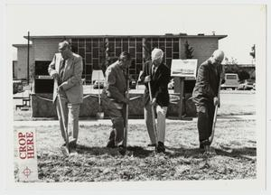 Primary view of object titled '[Photograph of Groundbreaking for Mabee Dining Hall]'.