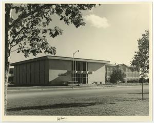 Primary view of object titled '[Photograph of C. E. Maedgen Administration Building]'.