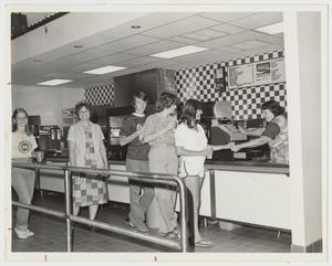 Primary view of object titled '[Photograph of Cafeteria Line]'.