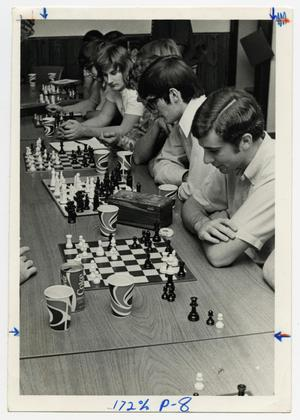 Primary view of object titled '[Photograph of Students Playing Chess]'.