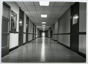 Primary view of object titled '[Photograph of Interior Hallway in Old Main]'.