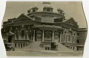 Primary view of object titled '[Photograph of the First Methodist Church in Abilene]'.