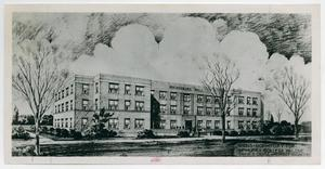 Primary view of object titled '[Photograph of Men's Dormitory for McMurry College Abilene]'.