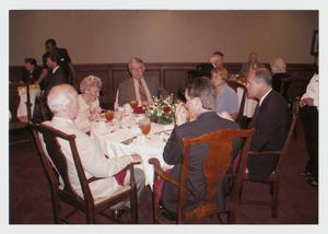 Primary view of object titled '[Photograph of Luncheon in President's Dining Room]'.