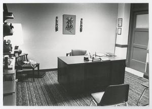 Primary view of object titled '[Photograph of Office in Old Main]'.