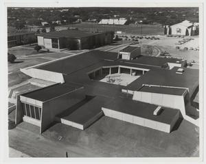 Primary view of object titled '[Photograph of Campus Center Near Completion]'.