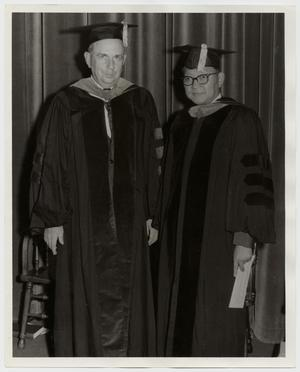 Primary view of object titled '[Photograph of Dr. Thomas Kim in Cap and Gown]'.