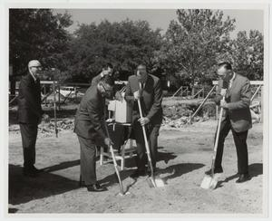 Primary view of object titled '[Photograph of Groundbreaking for Amy Graves Ryan Fine Art Center]'.