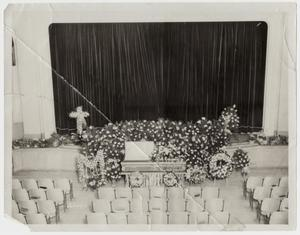Primary view of object titled '[Photograph of Dr. James W. Hunt's Casket]'.