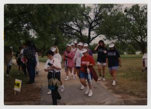 Primary view of object titled '[Photograph of Alzheimer's Memory Walk]'.