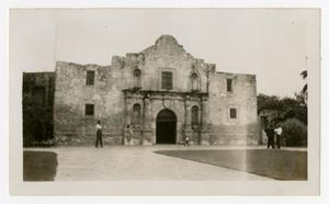 Primary view of object titled '[Photograph of The Alamo]'.