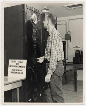 Primary view of object titled '[Photograph of Student in the Physics Department]'.