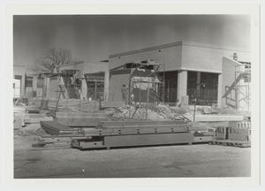 Primary view of object titled '[Photograph of Continuation of Construction of Mabee Dining Hall]'.
