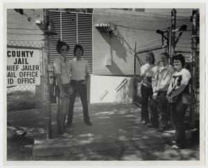 Primary view of object titled '[Photograph of Students Outside County Jail]'.