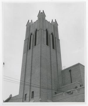 Primary view of object titled '[Photograph of Radford Carillon Tower]'.