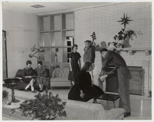 Primary view of object titled '[Photograph of Student Activities in Martin Dorm]'.