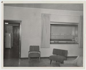Primary view of object titled '[Photograph of Interior of a Dormitory]'.