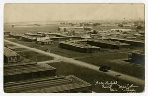Primary view of object titled '[Postcard of Camp MacArthur Hospital]'.
