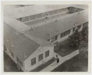 Primary view of object titled '[Photograph of Students Leaving the Quadrangle]'.