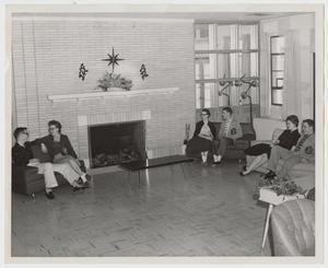 Primary view of object titled '[Photograph of Hunt Dormitory Public Space]'.