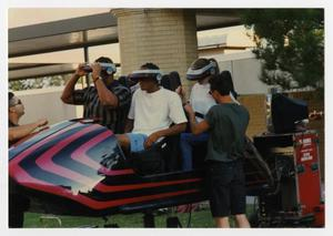 Primary view of object titled '[Photograph of Students on Virtual Reality Ride]'.