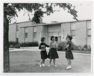 Primary view of object titled '[Photograph of Students at William C. Martin Dormitory]'.