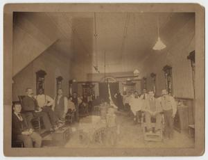 Primary view of object titled '[Photograph of Metropole Barbershop]'.
