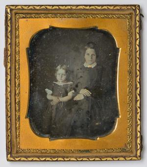 Primary view of object titled '[Portrait of a Woman and Child]'.