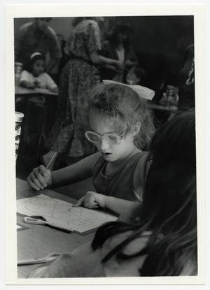 Primary view of object titled '[Photograph of Young Girl in Classroom]'.